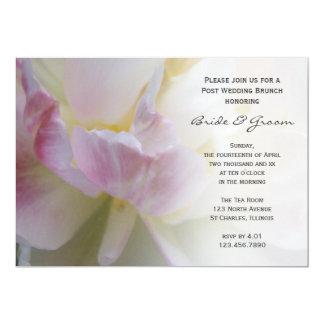 Pink White Tulip Flower Post Wedding Brunch Invite