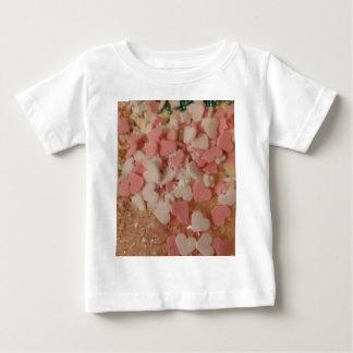Pink White Valentine Hearts, Cake Decoration, Love Tee Shirts
