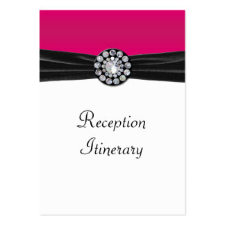 Pink & White With Black Velvet & Diamond Wedding Large Business Card