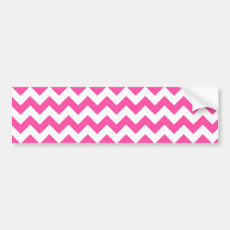 Pink White Zigzag Chevron Pattern Girly Bumper Sticker