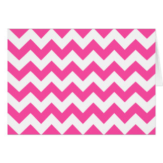 Pink White Zigzag Chevron Pattern Girly Card
