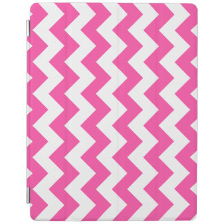 Pink White Zigzag Chevron Pattern Girly iPad Cover