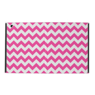 Pink White Zigzag Chevron Pattern Girly iPad Folio Cover
