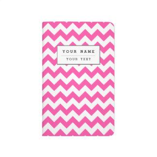 Pink White Zigzag Chevron Pattern Girly Journals