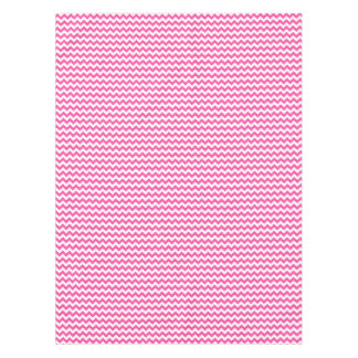 Pink White Zigzag Chevron Pattern Girly Tablecloth