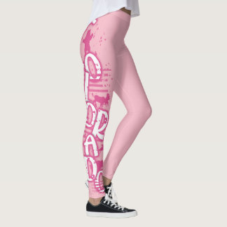 Pink wild animal Colorado word leggings