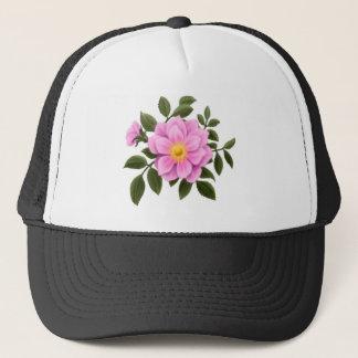 Pink Wild Rose Trucker Hat