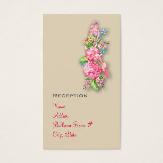 Pink Wildflower Bouquet Reception Cards