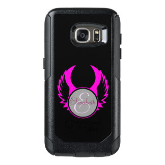 Pink Winged Monogram OtterBox Samsung Galaxy S7 Case