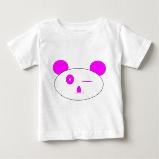 Pink Winking Panda Baby Tee