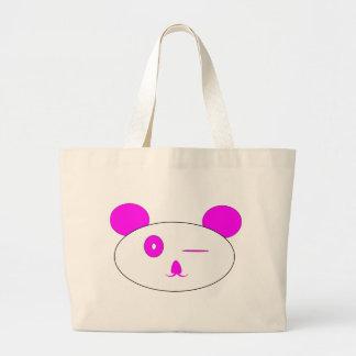 Pink Winking Panda Bags