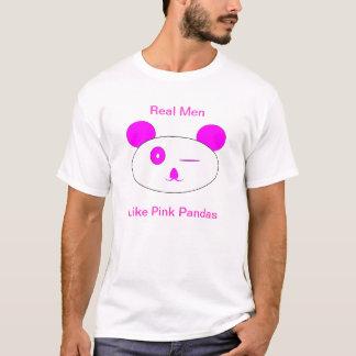 Pink Winking Panda Graphic Tee