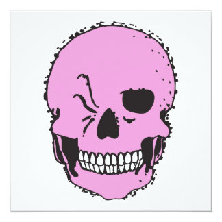 pink winking skull announcements