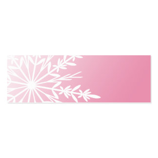Pink Winter Snowflake Gift Tags Pack Of Skinny Business Cards