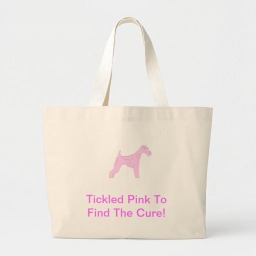 Pink Wire Haired Fox Terrier Canvas Bags