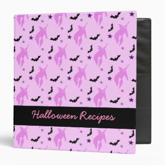 Pink Witch Halloween Recipes Binder