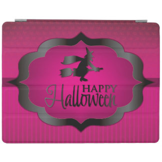 Pink witch Halloween shape iPad Cover