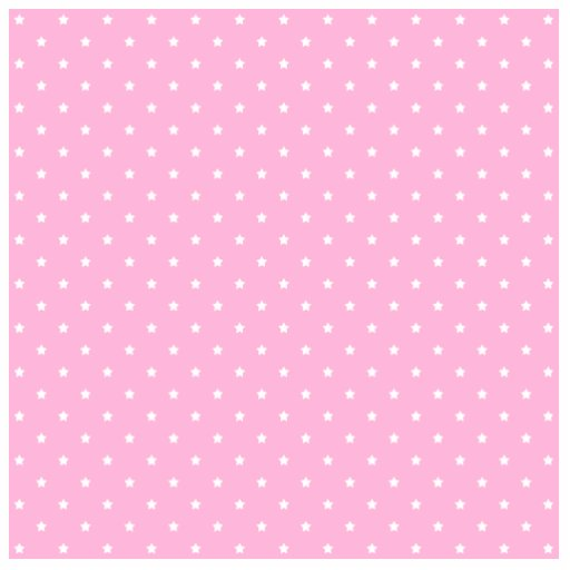 Pink with little white stars. cut out