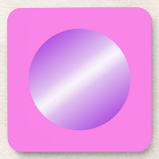 Pink with purple spots coaster