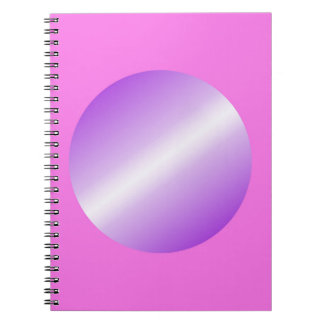 Pink with purple spots notebooks