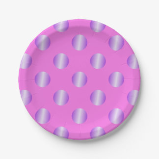 Pink with purple spots paper plate
