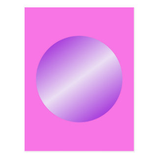 Pink with purple spots postcard