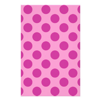 Pink with Violet Polka Dots Stationery