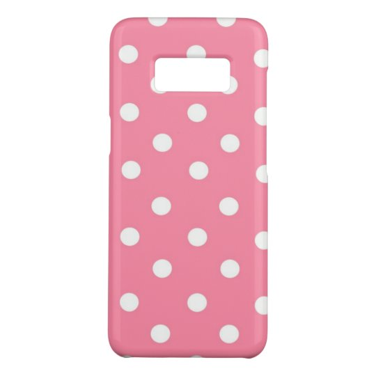 Pink with White Dots Case-Mate Samsung Galaxy S8 Case