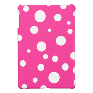 Pink with White Polka Dots Girly Fun iPad Mini Covers