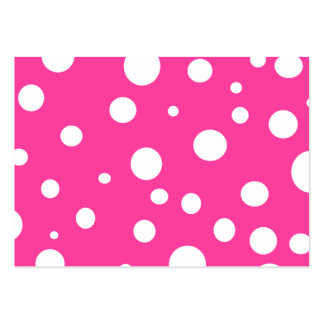 Pink with White Polka Dots Girly Fun Large Business Card