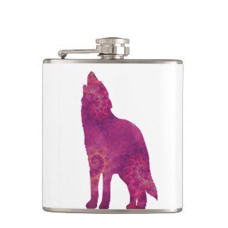 Pink Wolf Flask