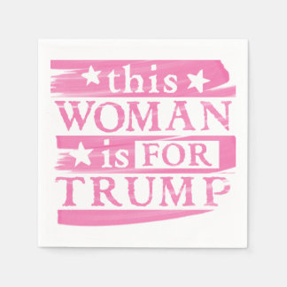 Pink Woman for TRUMP themed Paper Napkins