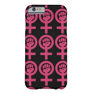 "Pink ""Woman Power"" Emblem Barely There iPhone 6 Case"