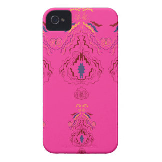 Pink wonderful Ornaments Folk design iPhone 4 Cover