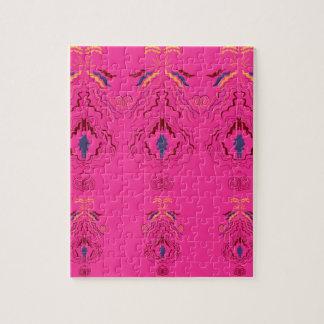Pink wonderful Ornaments Folk design Jigsaw Puzzle