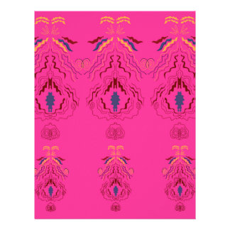 Pink wonderful Ornaments Folk design Letterhead