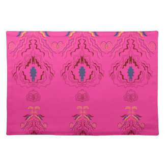 Pink wonderful Ornaments Folk design Placemat