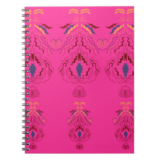 Pink wonderful Ornaments Folk design Spiral Notebook