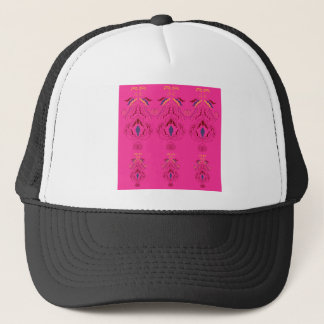 Pink wonderful Ornaments Folk design Trucker Hat