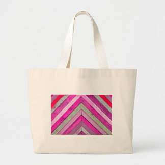 Pink wood large tote bag