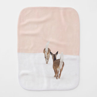 Pink Woodland Animals Burp Cloth