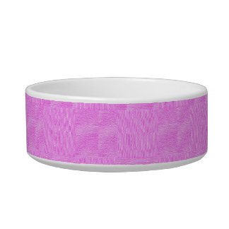 Pink Woven Texture Background Cat Food Bowls