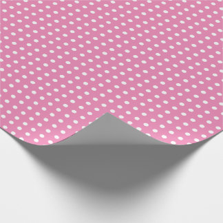 Pink Wrapping Paper with Small Polka Dots