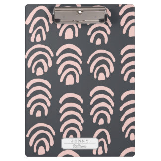 Pink X Grey Rounded Brackets Clipboards