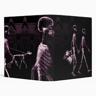 Pink X-Ray Skeletons Midnight Stroll Binder