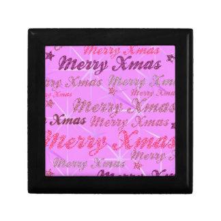 Pink Xmas Gift Box