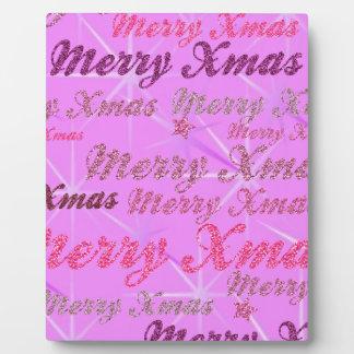 Pink Xmas Plaque