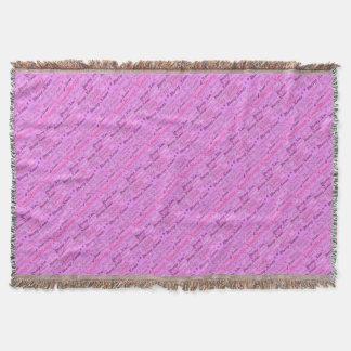 Pink Xmas Throw Blanket
