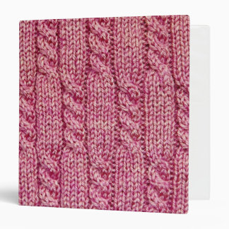 Pink Yarn Cabled Knit Binder