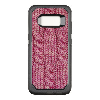 Pink Yarn Cabled Knit OtterBox Commuter Samsung Galaxy S8 Case